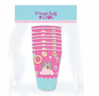 Pack of 8 princess paper cups (Code 3804)